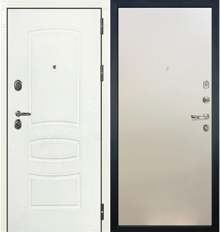 Входная дверь Легион Белая шагрень / Белый ясень (панель №62)
