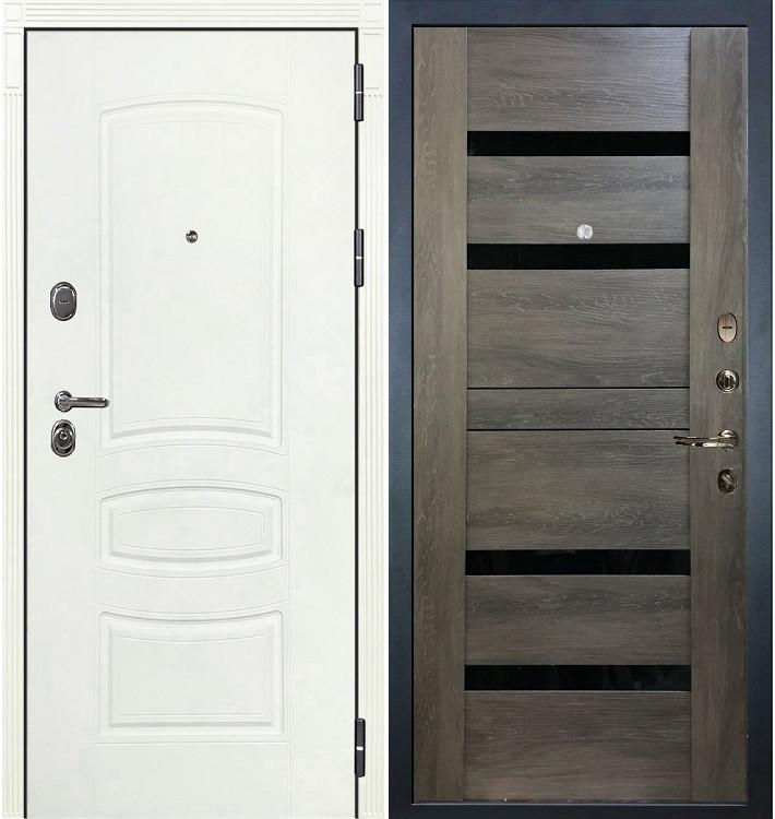 Входная дверь Легион Белая шагрень / Неро Графит шале (панель №65)