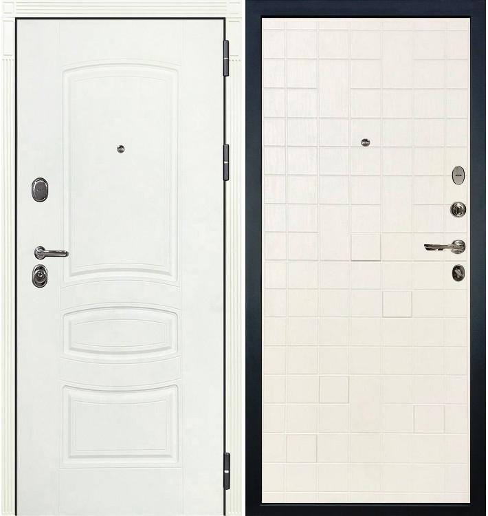 Входная дверь Легион Белая шагрень / Белый ясень (панель №56)