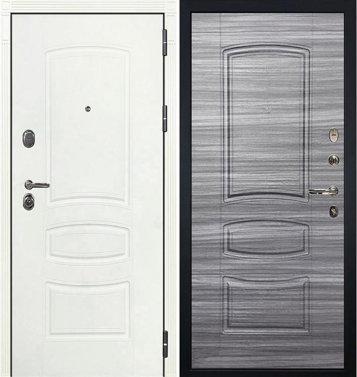 Входная дверь Легион Белая шагрень / Сандал серый (панель №69)