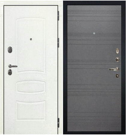 Входная дверь Легион Белая шагрень / Графит софт (панель №70)