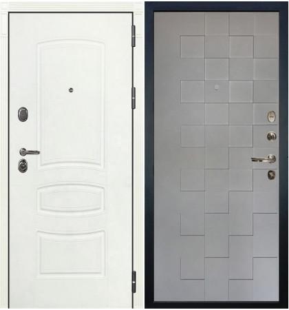 Входная дверь Легион Белая шагрень / Квадро Графит софт (панель №72)