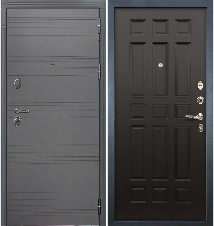 Входная дверь Легион Графит софт / Венге (панель №29)