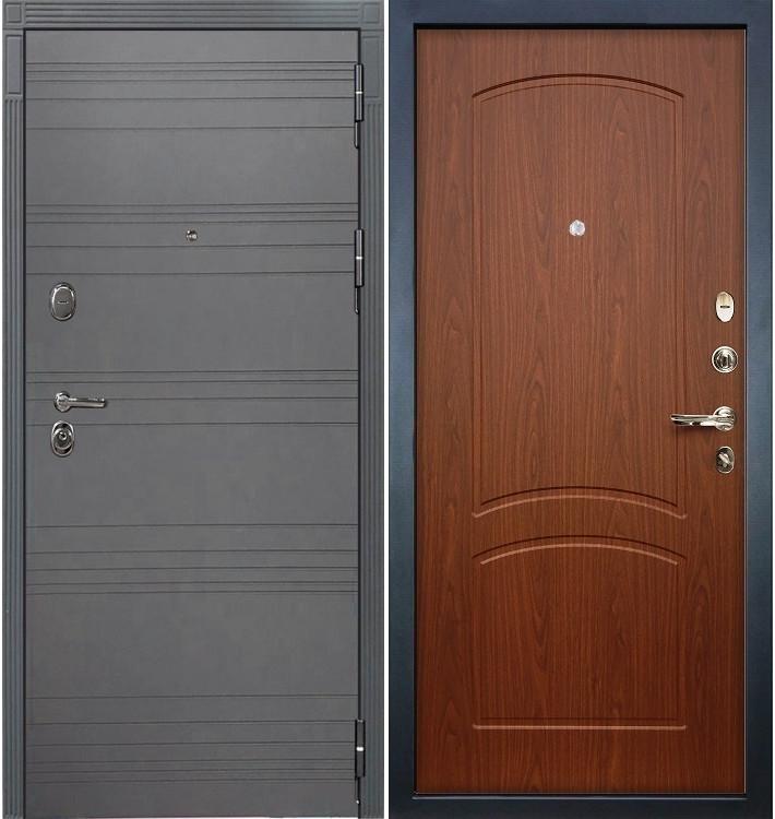Входная дверь Легион Графит софт / Береза мореная (панель №11)