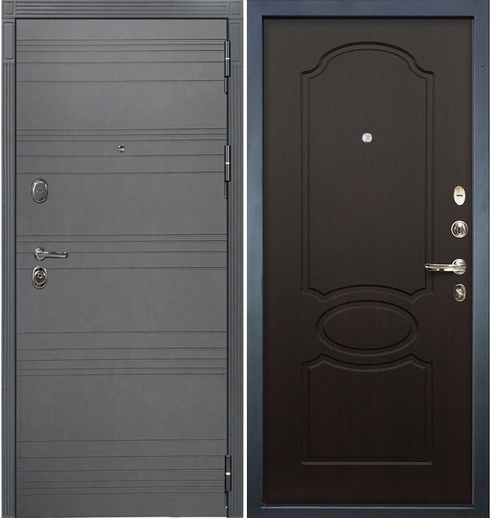 Входная дверь Легион Графит софт / Венге (панель №13)