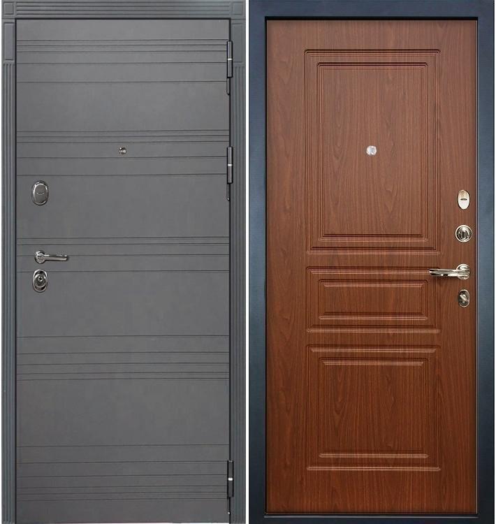 Входная дверь Легион Графит софт / Береза мореная (панель №19)