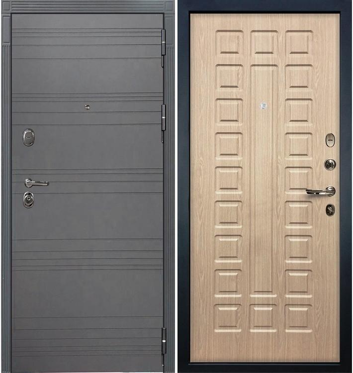 Входная дверь Легион Графит софт / Беленый дуб (панель №20)
