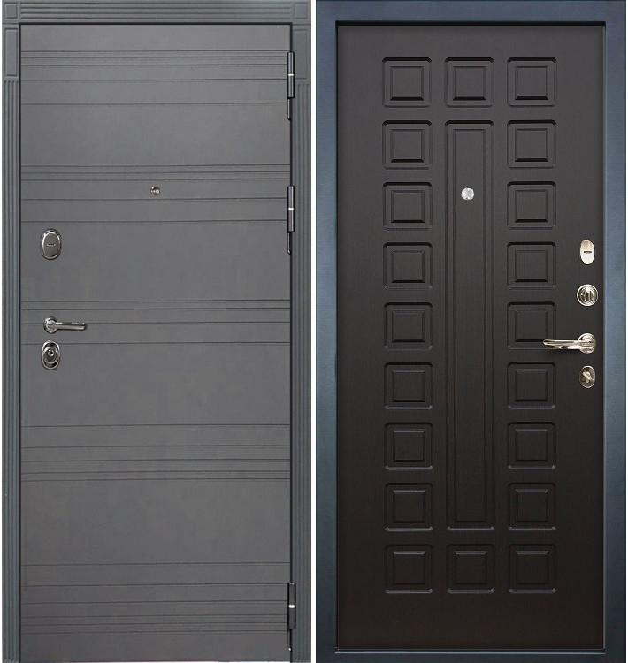 Входная дверь Легион Графит софт / Венге (панель №21)