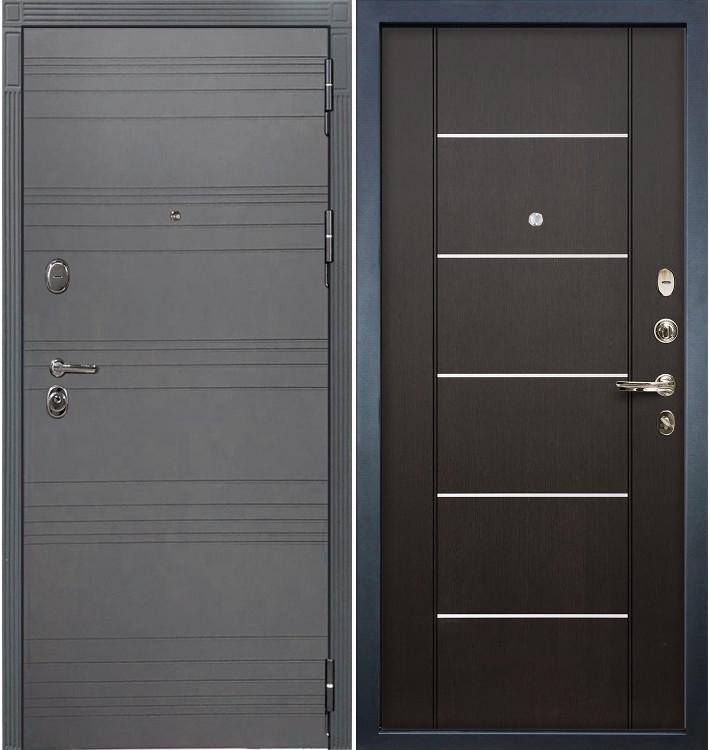 Входная дверь Легион Графит софт / Венге (панель №24)