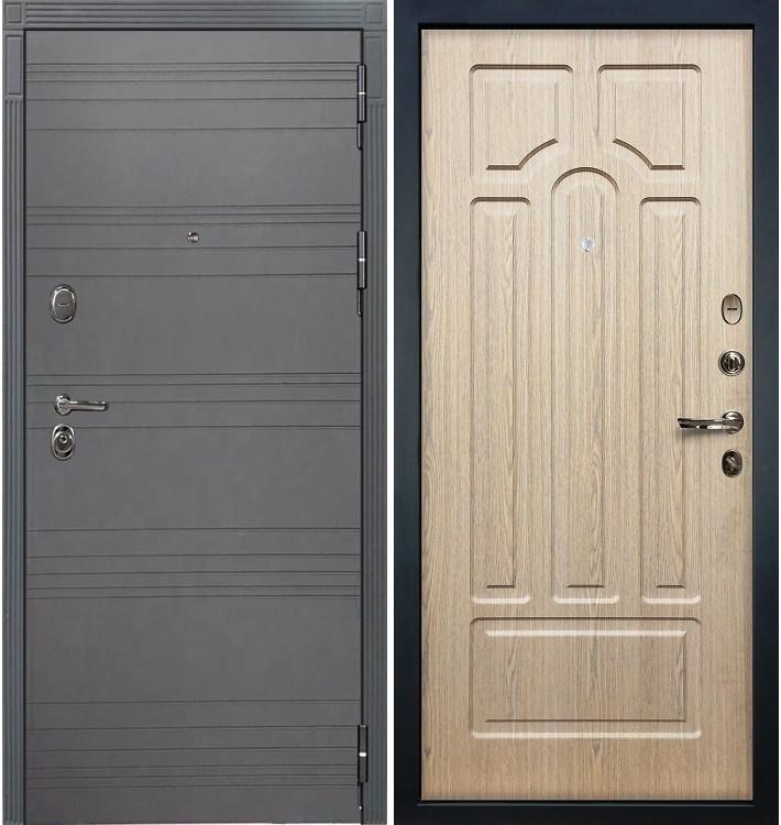Входная дверь Легион Графит софт / Беленый дуб (панель №25)
