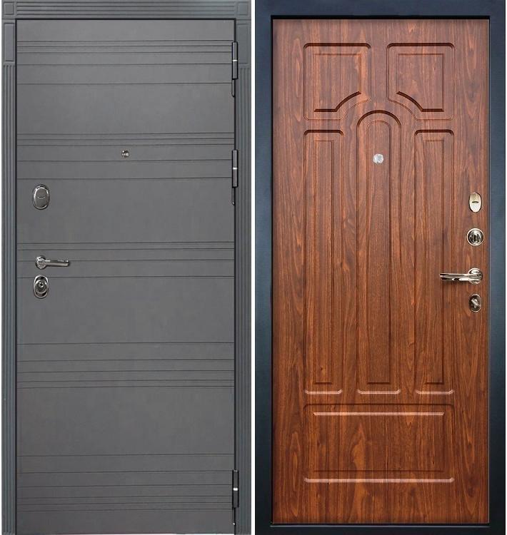 Входная дверь Легион Графит софт / Береза мореная (панель №26)