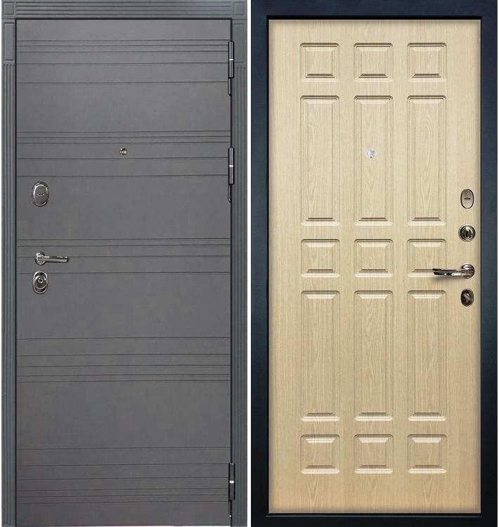 Входная дверь Легион Графит софт / Беленый дуб (панель №28)