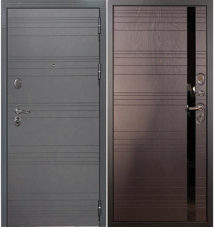 Входная дверь Легион Графит софт / Ясень шоколадный (панель №31)