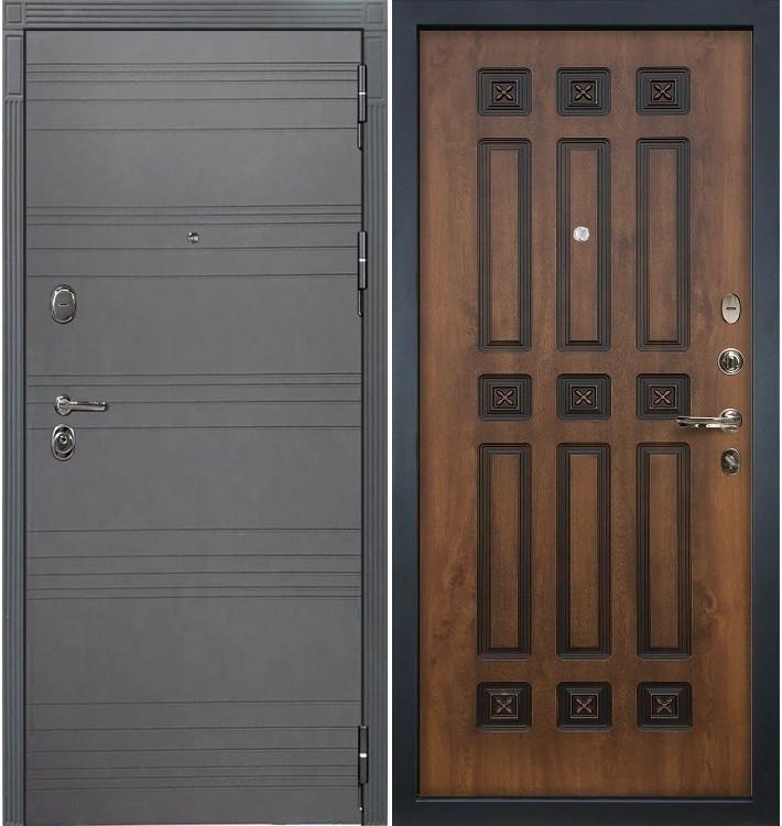 Входная дверь Легион Графит софт / Голден патина (панель №33)