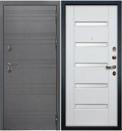 Входная дверь Легион Графит софт / Белый ясень (панель №34)
