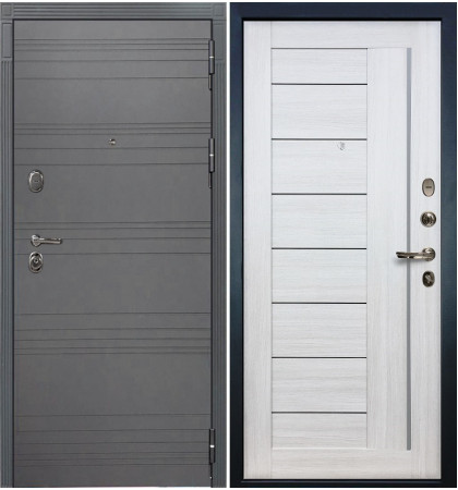 Входная дверь Легион Графит софт / Верджиния Беленый дуб (панель №38)