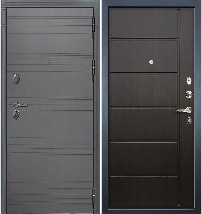 Входная дверь Легион Графит софт / Венге (панель №41)