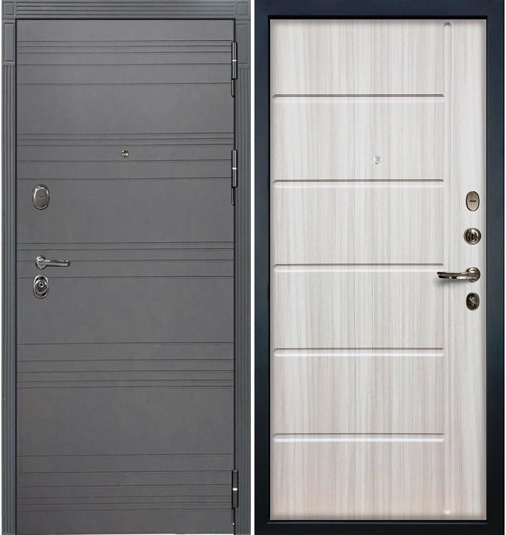 Входная дверь Легион Графит софт / Сандал белый (панель №42)