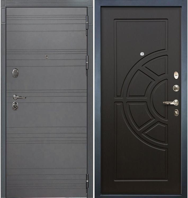 Входная дверь Легион Графит софт / Венге (панель №43)