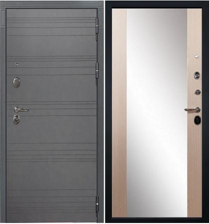 Входная дверь Легион Графит софт / Стиль Беленый дуб (панель №45)