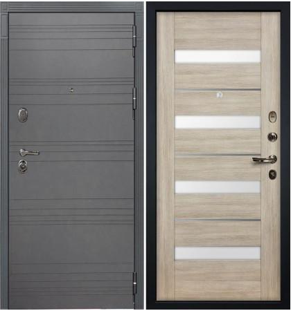 Входная дверь Легион Графит софт / Сицилио Ясень кремовый (панель №48)