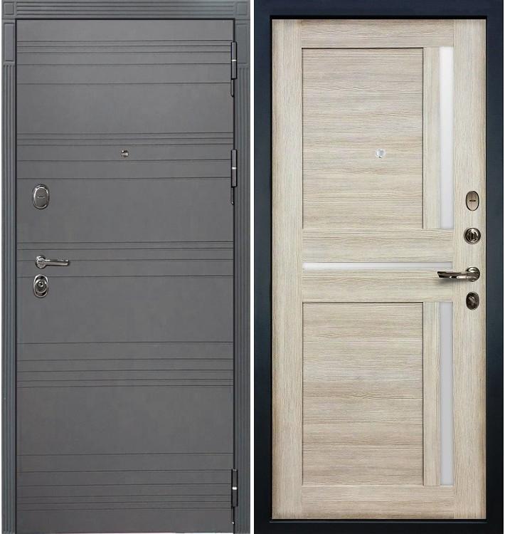Входная дверь Легион Графит софт / Баджио Кремовый ясень (панель №49)