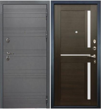 Входная дверь Легион Графит софт / Баджио Венге (панель №50)