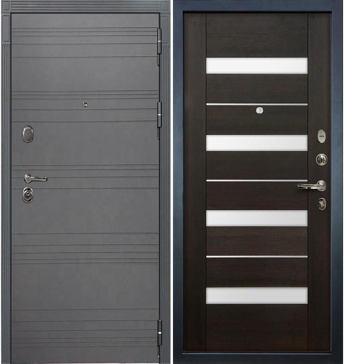 Входная дверь Легион Графит софт / Сицилио Венге (панель №51)