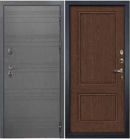 Входная дверь Легион Графит софт / Энигма Орех (панель №57)