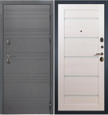 Входная дверь Легион Графит софт / Клеопатра Беленый дуб (панель №58)