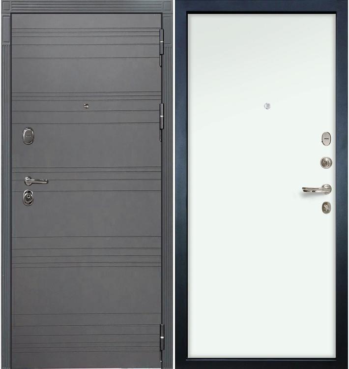 Входная дверь Легион Графит софт / Белый винорит (панель №59)