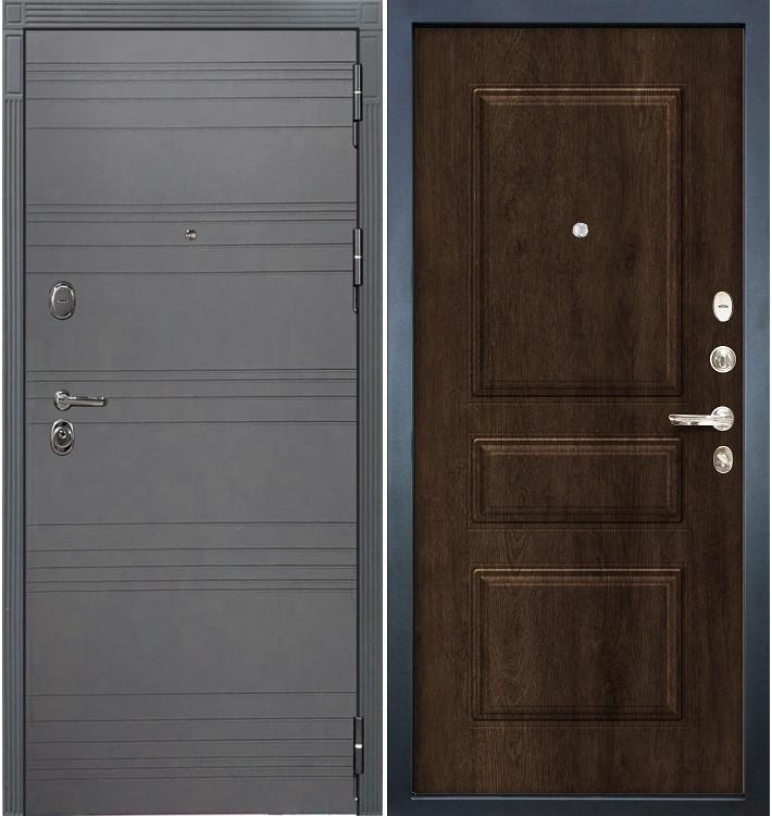 Входная дверь Легион Графит софт / Алмон 28 (панель №60)
