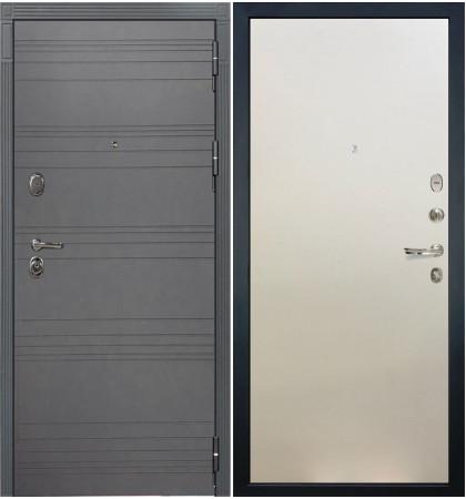 Входная дверь Легион Графит софт / Белый ясень (панель №62)