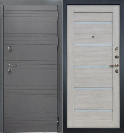 Входная дверь Легион Графит софт / Клеопатра Ясень кремовый (панель №66)