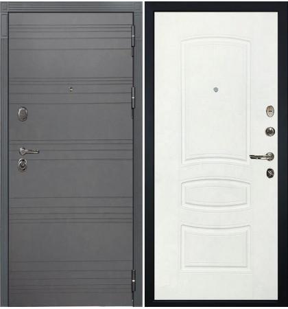 Входная дверь Легион Графит софт / Белая шагрень (панель №68)
