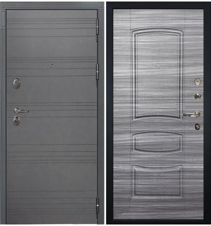 Входная дверь Легион Графит софт / Сандал серый (панель №69)
