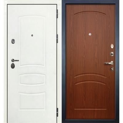 Входная дверь Лекс Сенатор 3К Белая шагрень / Береза мореная (панель №11)
