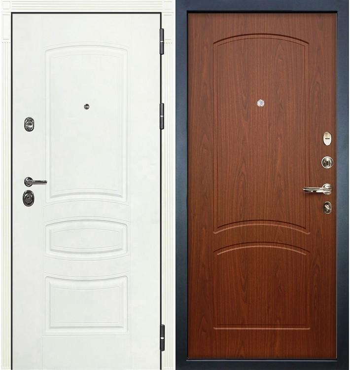 Входная дверь Сенатор 3К Белая шагрень / Береза мореная (панель №11)