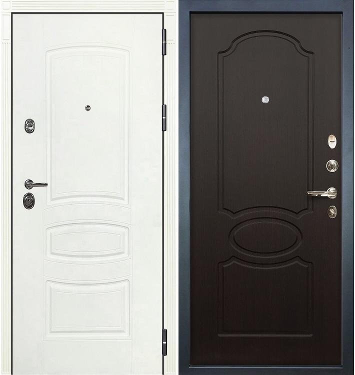 Входная дверь Сенатор 3К Белая шагрень / Венге (панель №13)