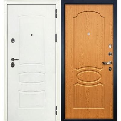 Входная дверь Лекс Сенатор 3К Белая шагрень / Дуб натуральный (панель №15)