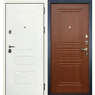 Входная дверь Лекс Сенатор 3К Белая шагрень / Береза мореная (панель №19)