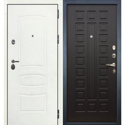 Входная дверь Лекс Сенатор 3К Белая шагрень / Венге (панель №21)