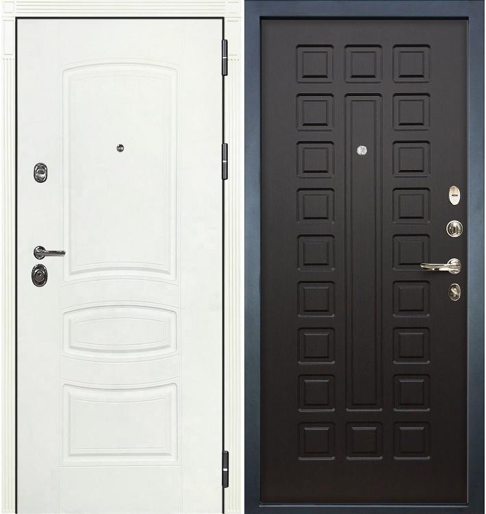 Входная дверь Сенатор 3К Белая шагрень / Венге (панель №21)
