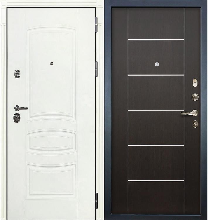 Входная дверь Сенатор 3К Белая шагрень / Венге (панель №24)