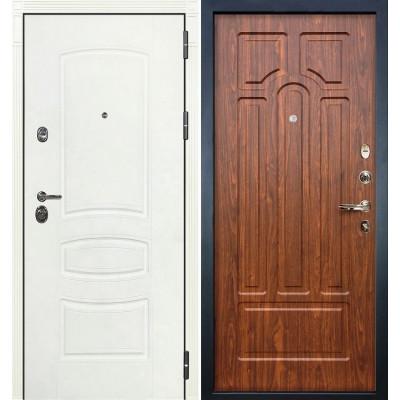 Входная дверь Лекс Сенатор 3К Белая шагрень / Береза мореная (панель №26)