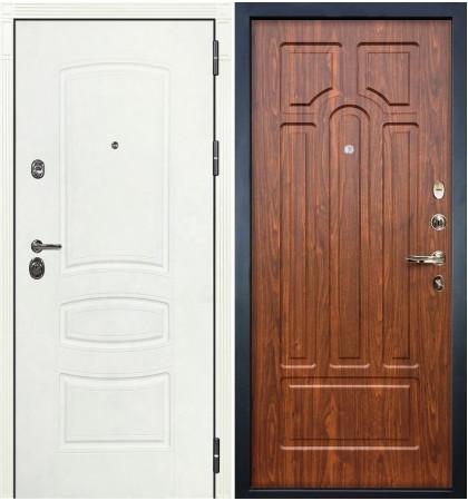 Входная дверь Сенатор 3К Белая шагрень / Береза мореная (панель №26)
