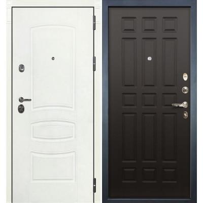 Входная дверь Лекс Сенатор 3К Белая шагрень / Венге (панель №29)
