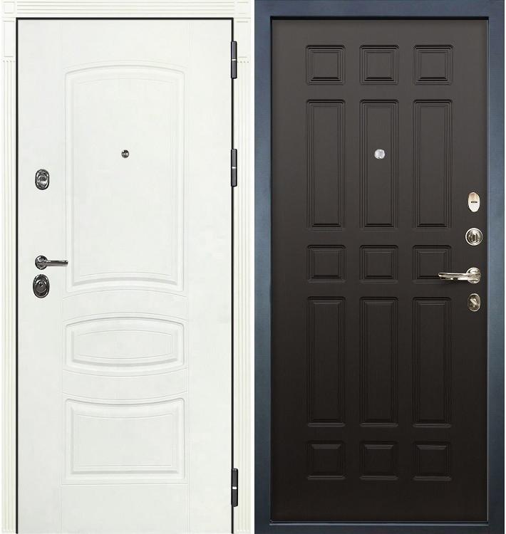 Входная дверь Сенатор 3К Белая шагрень / Венге (панель №29)