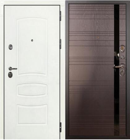 Входная дверь Сенатор 3К Белая шагрень / Ясень шоколад (панель №31)