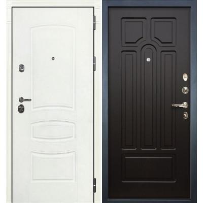 Входная дверь Лекс Сенатор 3К Белая шагрень / Венге (панель №32)